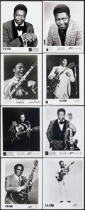 """Movie Posters:Photo, B.B. King Lot (Various, 1960s-1980s). Overall: Very Fine-. Promotional Photos (16), Mini Lobby Card (8"""" X 10""""), & Trimmed Ph... (Total: 19 Items)"""