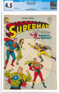 Golden Age (1938-1955):Superhero, Superman #65 (DC, 1950) CGC VG+ 4.5 Off-white to white pages....