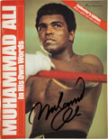 Boxing Collectibles:Autographs, 1975 Muhammad Ali Signed Magazine....