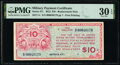Military Payment Certificates:Series 471, Series 471 $10 Replacement PMG Very Fine 30 EPQ.. ...