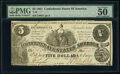 Confederate Notes:1861 Issues, T36 $5 1861 PMG About Uncirculated 50.. ...