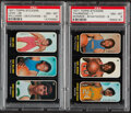 Basketball Cards:Lots, 1971 Topps Stickers PSA Graded Pair (2). ...