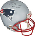 "Football Collectibles:Helmets, 2008 Tom Brady Signed New England Patriots Helmet with ""07..."