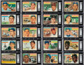 Baseball Cards:Sets, 1956 Topps Baseball High-Grade Complete Set (340) Plus Both Checklists (2) and All Team Variations (12). ...
