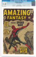 Silver Age (1956-1969):Superhero, Amazing Fantasy #15 (Marvel, 1962) CGC FR 1.0 Off-white pages....