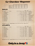 Basketball Collectibles:Programs, 1984 Michael Jordan & Dominique Wilkins Signed Program Page - Rookie Signature. ...