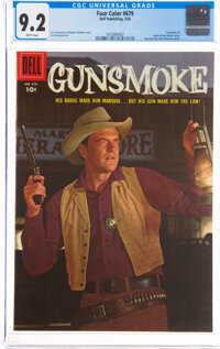 Four Color #679 Gunsmoke (Dell, 1956) CGC NM- 9.2 White pages
