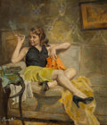 Pulp, Pulp-like, Digests and Paperback Art, James Avati (American, 1912-2005) Goodbye to...