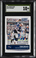 Football Cards:Singles (1970-Now), 2016 Panini Score Tom Brady #189 SGC Pristine 10 - The Only Gold Label Example....