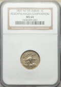 Hard Times Tokens, 1837 1C Feuchtwanger Cent, Low-120, HT-268(61), W-NY-480, MS64 NGC. NGC Census: (106/78). PCGS Population: (45/13). CDN: $6...