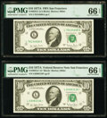 Small Size:Federal Reserve Notes, Fr. 2024-L; L* $10 1977A Federal Reserve Notes. PMG Gem Un...