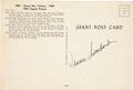 Football Collectibles:Photos, 1967 Vince Lombardi Signed Green Bay Packers Giant Postcard....