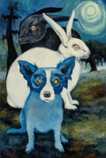 Paintings, George Rodrigue (American, 1944-2013). The Land of Unknown (Don't Turn Your Back on Your Troubles 'Cause They Just Multipl...