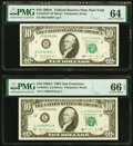 Fr. 2028-B*;L $10 1988A Federal Reserve Notes. PMG Graded Choice Uncirculated 64; Gem Uncirculated 66 EPQ. ... (Total: 2...
