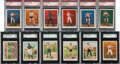 """Boxing Cards:General, 1910 T220 Mecca """"Prize Fighters"""" PSA/SGC Graded Complete Set (50). ..."""