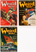 Pulps:Horror, Weird Tales Group of 3 (Popular Fiction, 1942) Condition: Average VG/FN.... (Total: 3 Items)