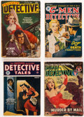 Pulps:Detective, Assorted Detective Pulps Group of 5 (Various, 1939-55) Condition: Average GD.... (Total: 5 Items)