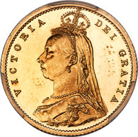 Great Britain: Victoria gold Proof 1/2 Sovereign 1887 PR62 Deep Cameo PCGS