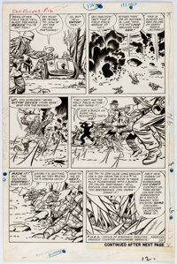 Jack Kirby and Dick Ayers Sgt. Fury #3 Story Page 10 Original Art (Marvel, 1963)