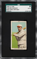 Baseball Cards:Singles (Pre-1930), 1909-11 T206 Red Kleinow (New York-With Bat) SGC Authentic - Unique Blank Back Proof. ...