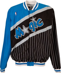 1992-93 Shaquille O'Neal Game Worn Orlando Magic Warmup Jacket with Team Letter