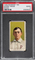 """Baseball Cards:Singles (Pre-1930), 1909-11 T206 Piedmont Sherry Magee """"MAGIE"""" Error PSA Good 2 - The Hobby's Most Famous Typo! ..."""
