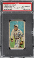 Autographs:Sports Cards, Signed 1909-11 T206 Sweet Caporal Larry Doyle (Throwing) PSA/DNA Authentic. ...