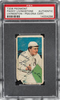 Autographs:Sports Cards, Signed 1909-11 T206 Piedmont Paddy Livingstone PSA/DNA Authentic. ...