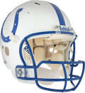 Football Collectibles:Helmets, 2003-04 Peyton Manning Game Worn Indianapolis Colts Helmet--Photo Matched!...