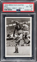 Olympic Cards:General, 1958 Bremer Fachring Kaffee Pele Rookie Futball - Welt. - Ser. 4 #12 PSA EX-MT 6--Finest Known!...