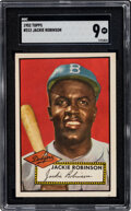 Baseball Cards:Singles (1950-1959), 1952 Topps Jackie Robinson #312 SGC Mint 9--Population One, None Superior!...