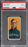 Baseball Cards:Singles (Pre-1930), 1909-11 T206 Drum Jake Atz PSA Good 2....