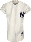 Baseball Collectibles:Uniforms, 1962-63 Clete Boyer Game Worn & Signed New York Yankees Jersey--Photo Matched to 1962 World Series Game Three!...