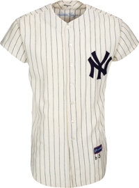 1962-63 Clete Boyer Game Worn & Signed New York Yankees Jersey--Photo Matched to 1962 World Series Game Three!