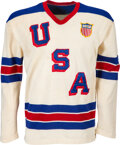 Hockey Collectibles:Uniforms, 1956 Gene Campbell Game Worn USA International Team Jersey from The Gene Campbell Collection....