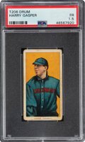 Baseball Cards:Singles (Pre-1930), 1909-11 T206 Drum Harry Gasper (Gaspar) PSA Fair 1.5 - Only Two Graded Examples! ...