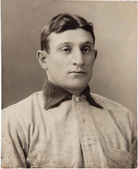 Circa 1905 Honus Wagner Original Studio Photograph by Carl Horner--The Most Famous Photo in the Hobby!