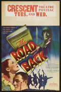 "Movie Posters:War, The Road Back (Universal, 1939). Window Card (14"" X 22""). War.Starring Richard Cromwell, George ""Slim"" Summerville, Andy De..."