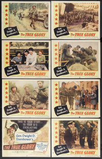 """The True Glory (Columbia, 1945). Lobby Card Set of 8 (11"""" X 14""""). Documentary.... (Total: 8 Items)"""