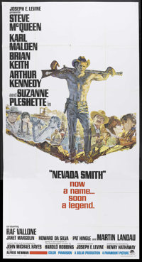 "Nevada Smith (Paramount, 1966). Three Sheet (41"" X 81""). Western. Starring Steve McQueen, Karl Malden, Brian K..."