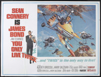 """You Only Live Twice (United Artists, 1967). Subway (45"""" X 59""""). James Bond Action. Starring Sean Connery, Mie..."""