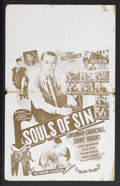 "Movie Posters:Black Films, Souls of Sin (Alexander Productions, 1949). Window Card (14"" X22""). Drama. Starring Savannah Churchill, Billie Allen, Willi..."