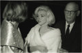 Movie/TV Memorabilia:Photos, Marilyn Monroe Picture and Negative. A slightly pensive-lookingMarilyn stands between a female companion and Arthur Miller...