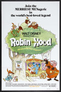"""Movie Posters:Animated, Robin Hood (Buena Vista, 1973). One Sheet (27"""" X 41""""). Animated.Featuring the voices of Brian Bedford, Phil Harris, Peter U..."""