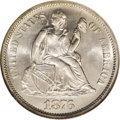 Seated Dimes: , 1876-S 10C MS66 NGC. Well struck with a bright, effulgent sheen and an untoned silver-white obverse. The reverse has a fain...