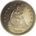 Proof Seated Quarters: , 1860 25C PR65 PCGS. Of the 1,000 proof quarters struck in 1860,Larry Briggs, in his The Comprehensive Encyclopedia of Un...