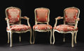 Furniture: French, A Set of Eight Fine Provincial Dining Chairs. Unknown maker,French. Nineteenth Century. Painted wood. Unkmarked. 36 inche...(Total: 8 )