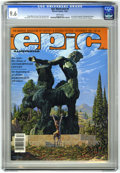 Modern Age (1980-Present):Miscellaneous, Epic Illustrated #9 (Marvel, 1981) CGC NM+ 9.6 White pages. Jim Starlin interview. Weirdworld begins. Conclusion of Metamorp...