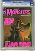 "Magazines:Horror, Famous Monsters of Filmland #114 (Warren, 1975) CGC VF+ 8.5 Off-white pages. Special ""Monsters from Japan"" issue. ""Frankenst..."