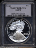 Modern Bullion Coins: , 1995-W $1 Silver Eagle PR69 Deep Cameo PCGS. With just ...